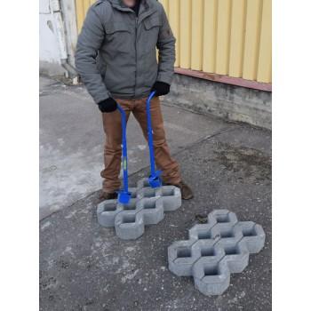 Парные ручки для укладки бетонной газонная решетка типа Турфстоун
